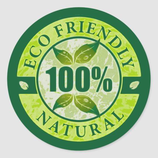 Eco Friendly 100% Natural Round Sticker