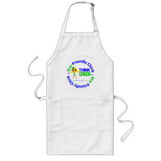 Eco-Friendly Chick Think Green Aprons
