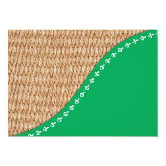 Eco friendly design 13 cm x 18 cm invitation card