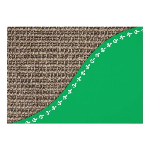 Eco friendly design invites