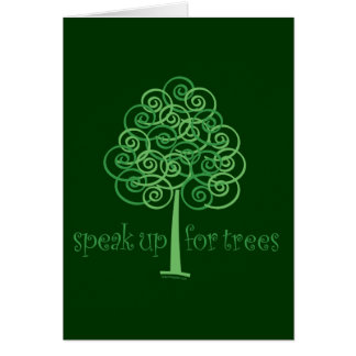 Eco-Friendly, Earth-Friendly, Love Trees Card