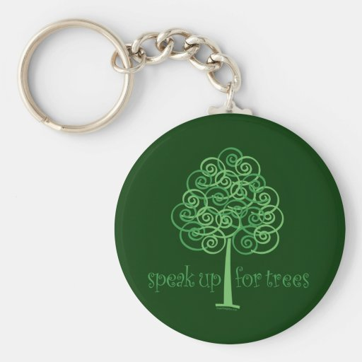 Eco-Friendly, Earth-Friendly, Love Trees Keychains