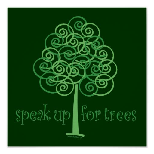 Eco-Friendly, Earth-Friendly, Love Trees Poster