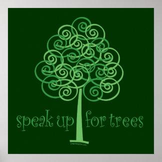 Eco-Friendly, Earth-Friendly, Love Trees Print