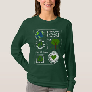 Eco Friendly Go Green Love Planet Earth Themed T-Shirt
