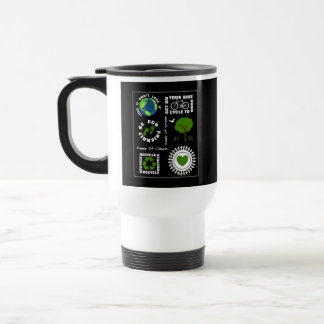 Eco Friendly Go Green Love Planet Earth Themed Travel Mug