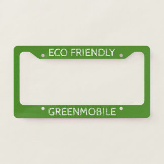 Eco Friendly Greenmobile Licence Plate Frame