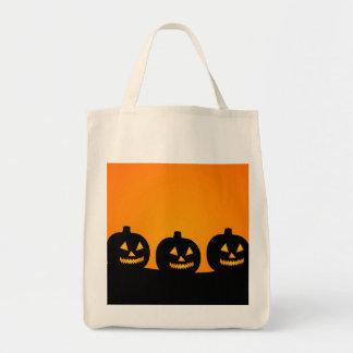 Eco-Friendly Halloween Jack-O-Lantern Reusable Bags