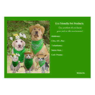 Eco Friendly Pet Products Pack Of Chubby Business Cards