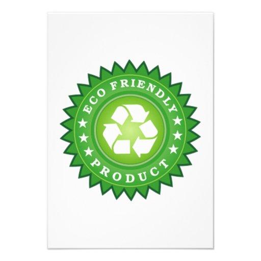 ECO Friendly Product Personalized Invite