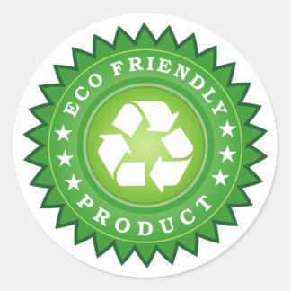 ECO FRIENDLY PRODUCT ROUND STICKER