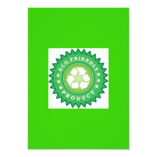 Eco Friendly Product Sticker 13 Cm X 18 Cm Invitation Card
