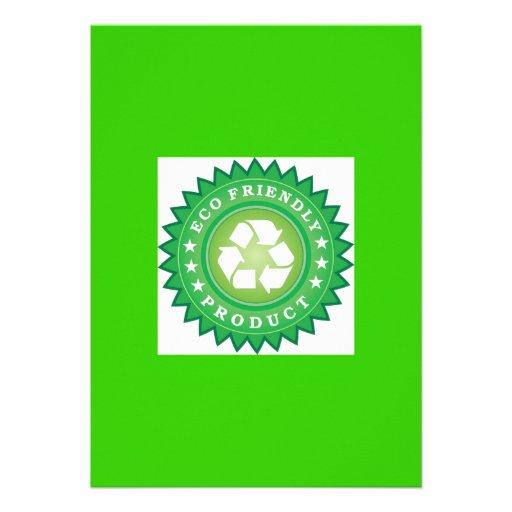 Eco Friendly Product Sticker Invite