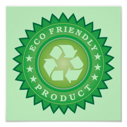 Eco Friendly Product Sticker Poster