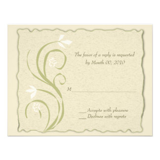 Eco-Friendly Reply cards Personalized Invite
