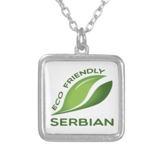 Eco Friendly Serbian. Silver Plated Necklace
