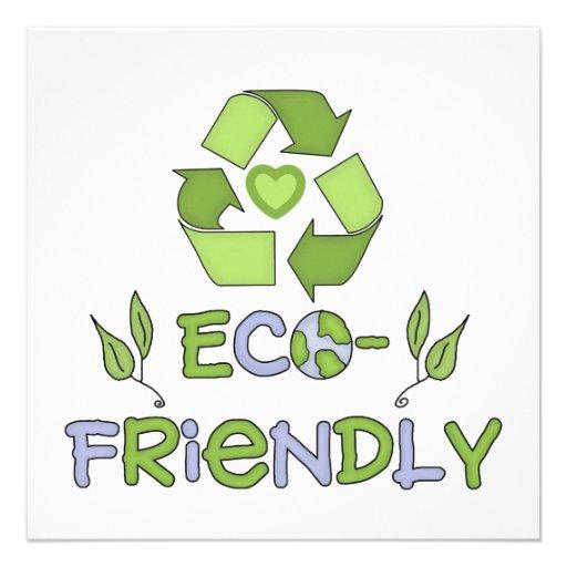Eco-Friendly Tshirts and Gifts Custom Invitations