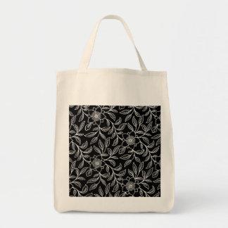Eco-Friendly Vintage Floral Flowers Leaf Reusable Bag