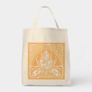 Eco-Friendly Vintage Floral Leaf Sand Reusable Canvas Bag