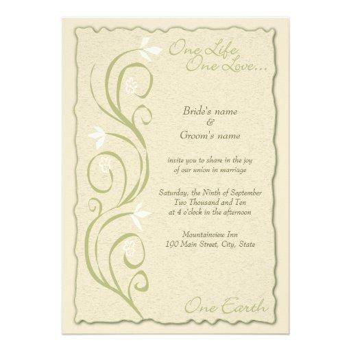 Eco-Friendly Wedding Invitation