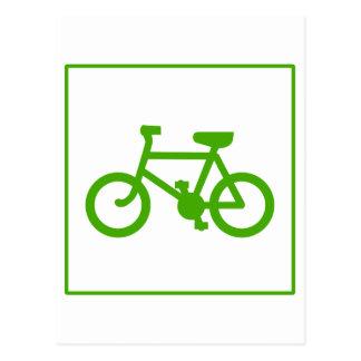 Eco Green Bicycle icon, bike, ecology Postcard