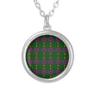 ECO GREEN ELEMENTS SILVER PLATED NECKLACE