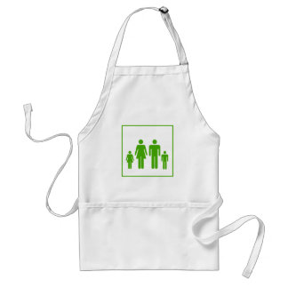 Eco Green Family Icon - Ecology Standard Apron