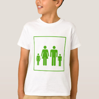 Eco Green Family Icon - Ecology T-Shirt