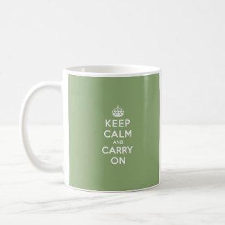 Eco Green Keep Calm and Carry On Coffee Mug