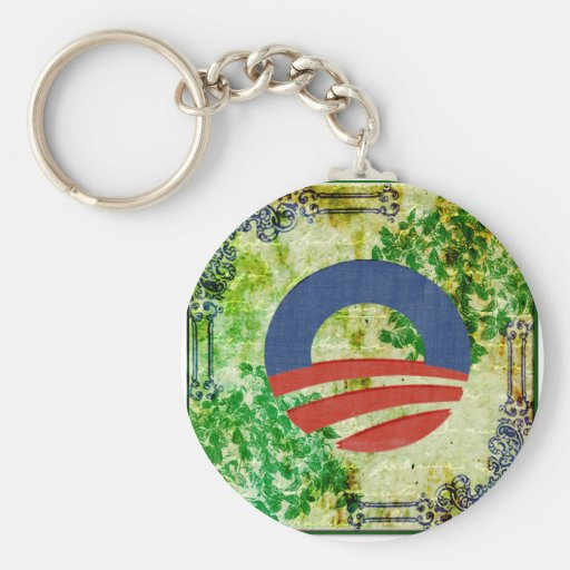 Eco Grunge Obama 2012 Reelection Design Key Chains