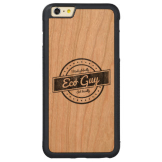 Eco Guy Carved Cherry iPhone 6 Plus Bumper Case