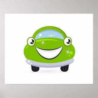 ECO happy Car : Kids room Poster Art