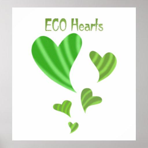 Eco Hearts Print
