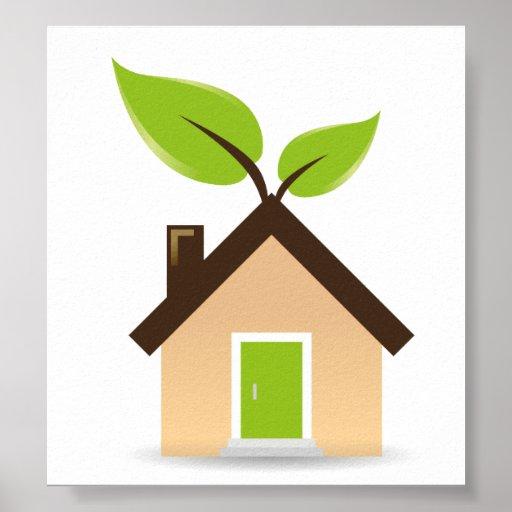 Eco House Print