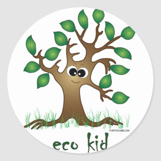 Eco Kid Classic Round Sticker