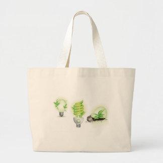 Eco leaf globes tote bags