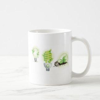 Eco leaf globes coffee mug