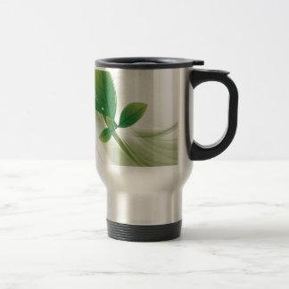 eco-leaves-vector stainless steel travel mug
