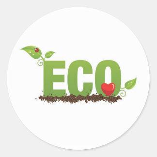 Eco-love Round Sticker