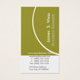 Eco Organic Green Business Design Promotional Business Card
