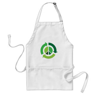 Eco Recycling Peace Symbol - Ecology Standard Apron