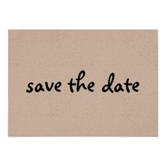 eco save the date 13 cm x 18 cm invitation card