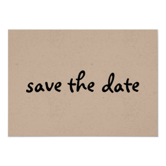 eco save the date 5x7 paper invitation card