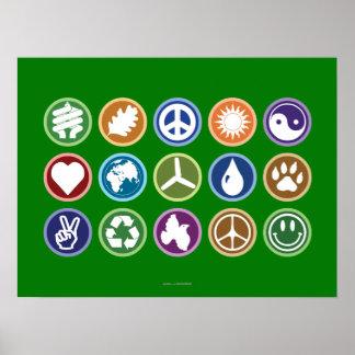 Eco Symbols Print