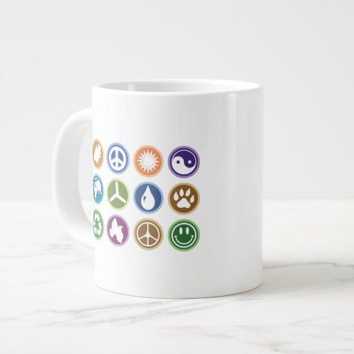 Eco Symbols Extra Large Mugs