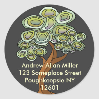 Eco Tree Book Label Round Sticker
