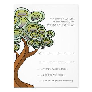 Eco Tree Green Wedding Response Card