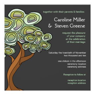 Eco Tree of Life Green Wedding Invitation