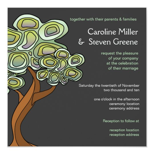 Tree Of Life Invitation Rsvp Celtic Life By: Eco Tree Of Life Green Wedding Invitation