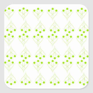 Eco tree square sticker